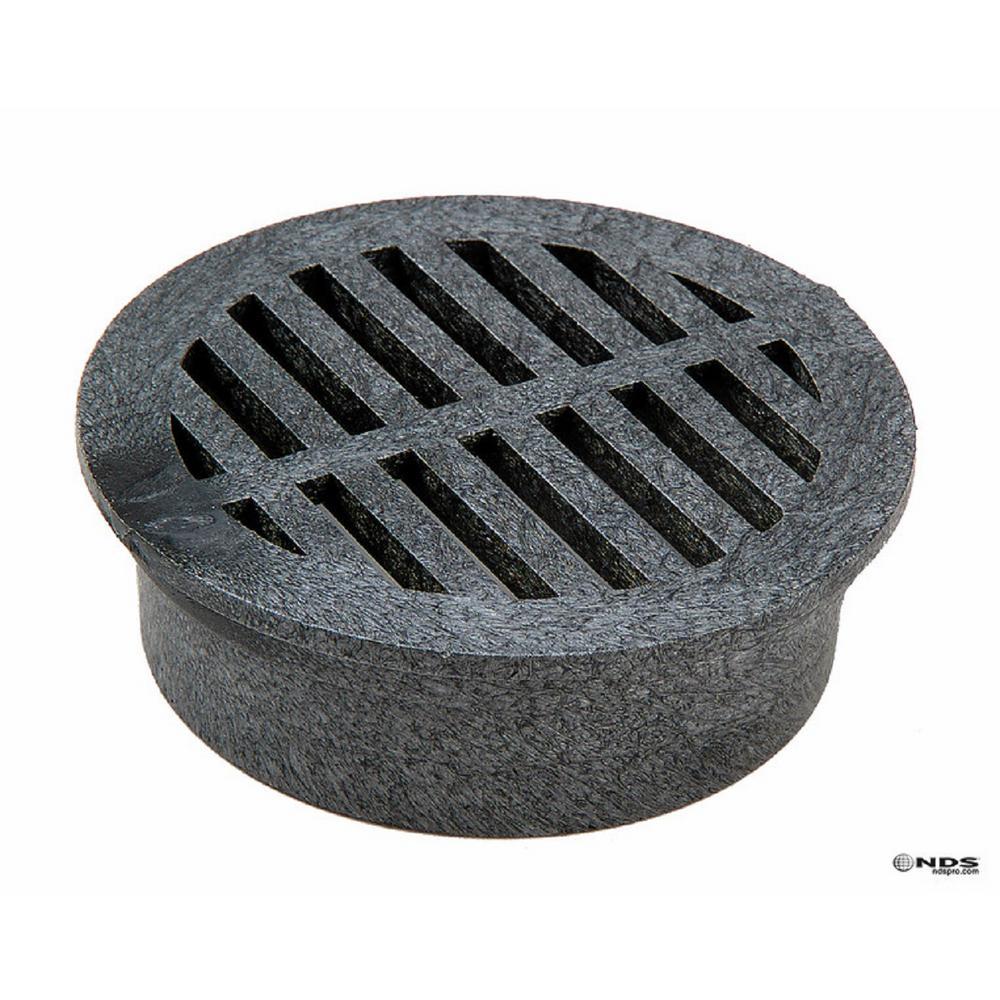 4 in. Round Foam Grate - Black
