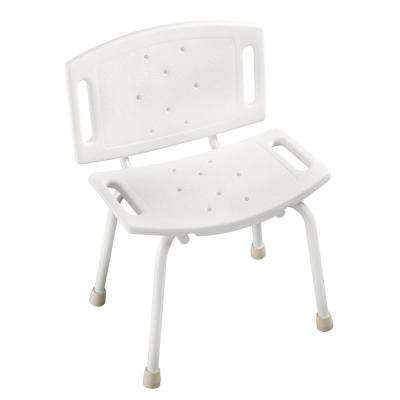 15-1/2 in. x 4-1/2 in. Bathtub and Shower Safety Chair in White