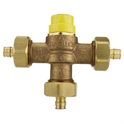 1/2 in. Lead Free Bronze PEX-A Expansion Barb Thermostatic Mixing Valve
