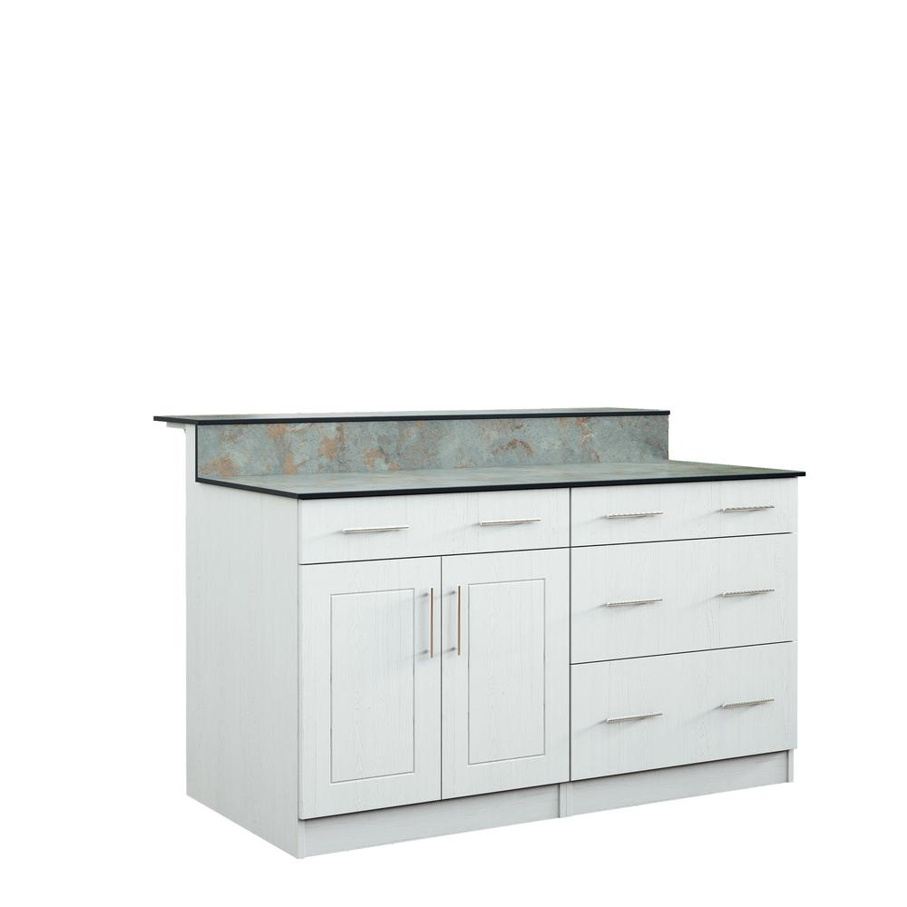 Palm Beach 59.5 in. Outdoor Bar Cabinets with Countertop 2-Door and
