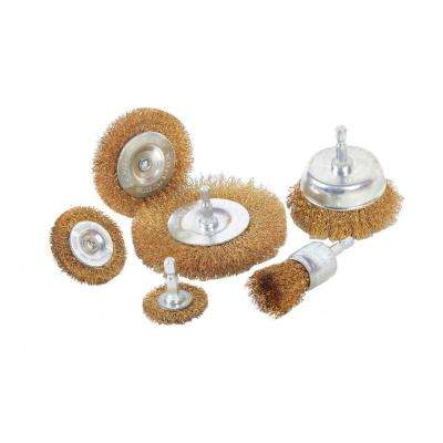 7.15 in. W General Purpose Coarse Wire Wheel and Cup Brush Set (6-Piece)