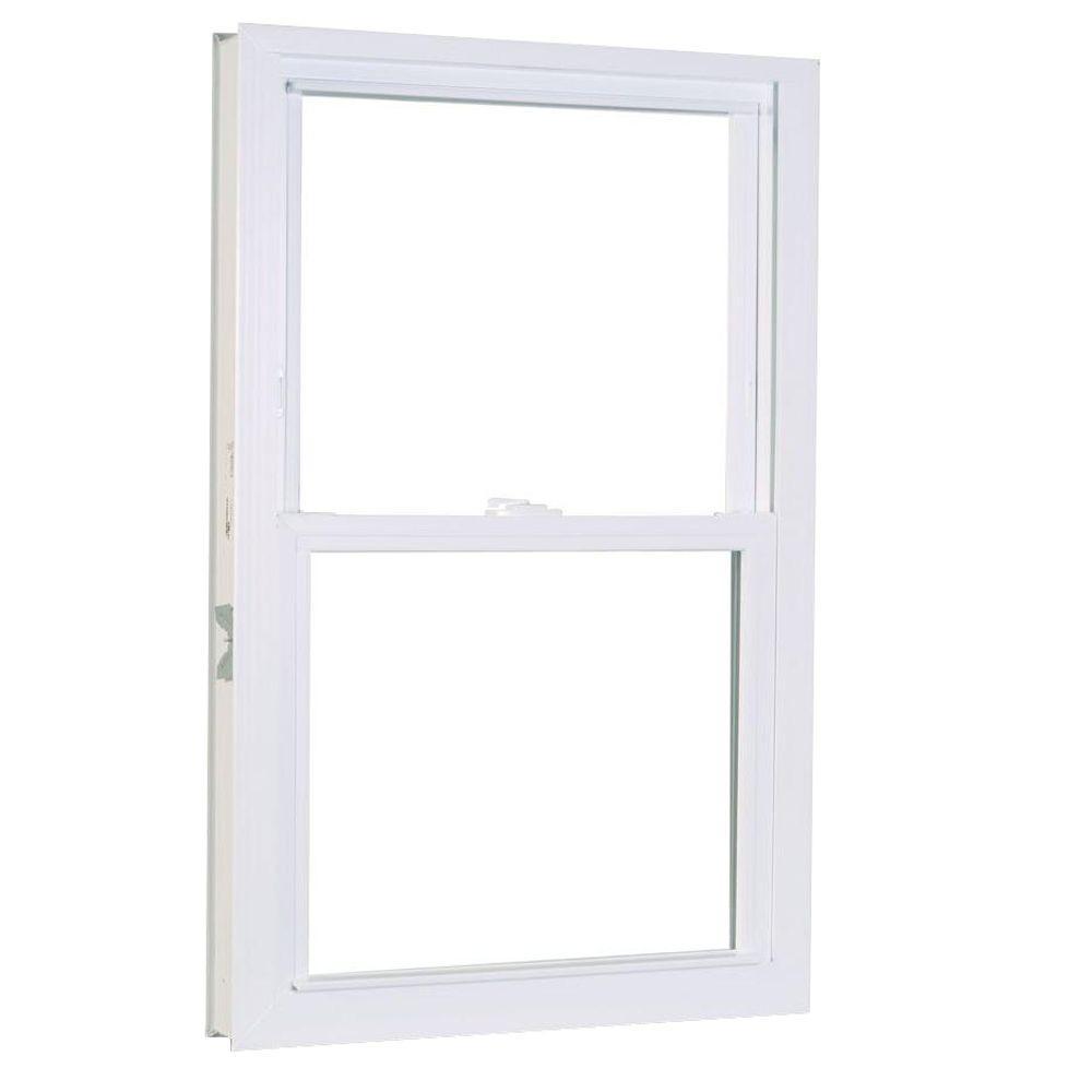 American Craftsman 39.75 in. x 53.25 in. 1200 Series Double Hung Buck Vinyl Window - White