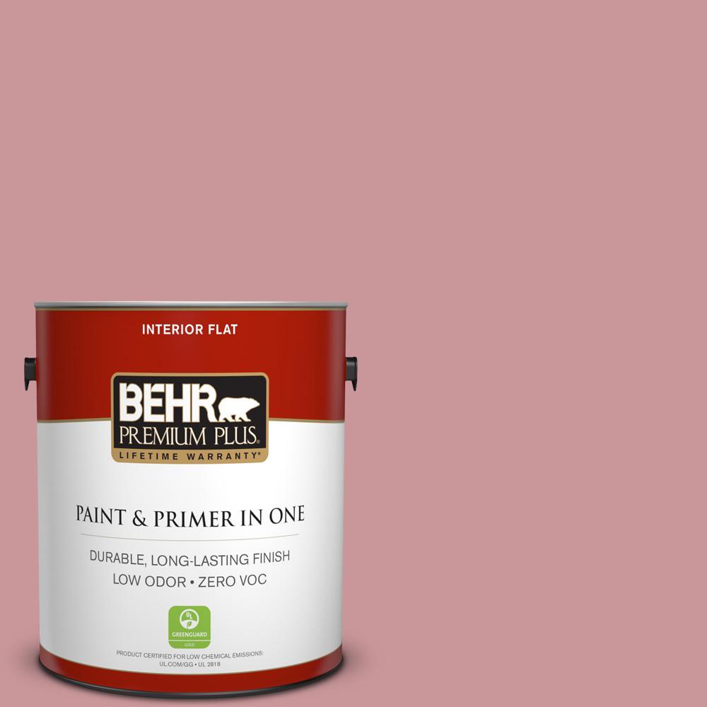 BEHR Premium Plus 1-gal. #S140-4 Minstrel Rose Flat Interior Paint