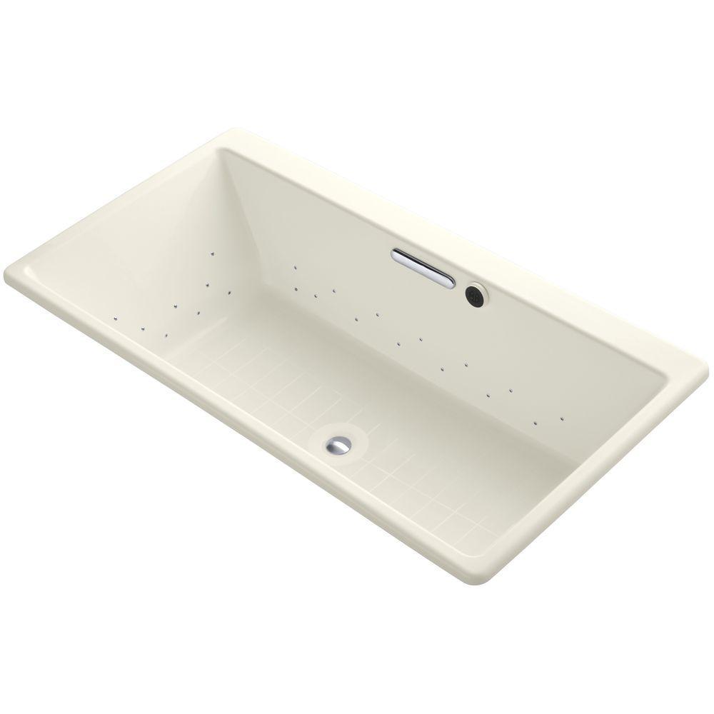 Reve 5.5 ft. Air Bath Tub in Biscuit
