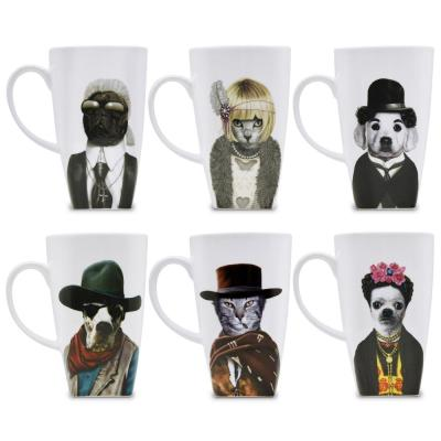 20 oz. Western Pets Rock Collectible Fine Bone China Mugs (Set of 6)