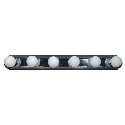 Vanity Lighting Family 6-Light Satin Nickel Bathroom Vanity Light