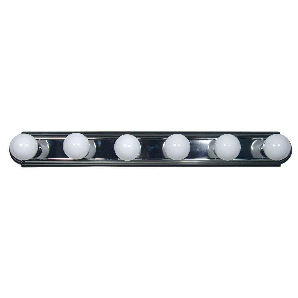 Vanity Lighting Family 6-Light Satin Nickel Bathroom Vanity Light