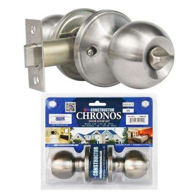Stainless Steel Finish Privacy Door Knob Set