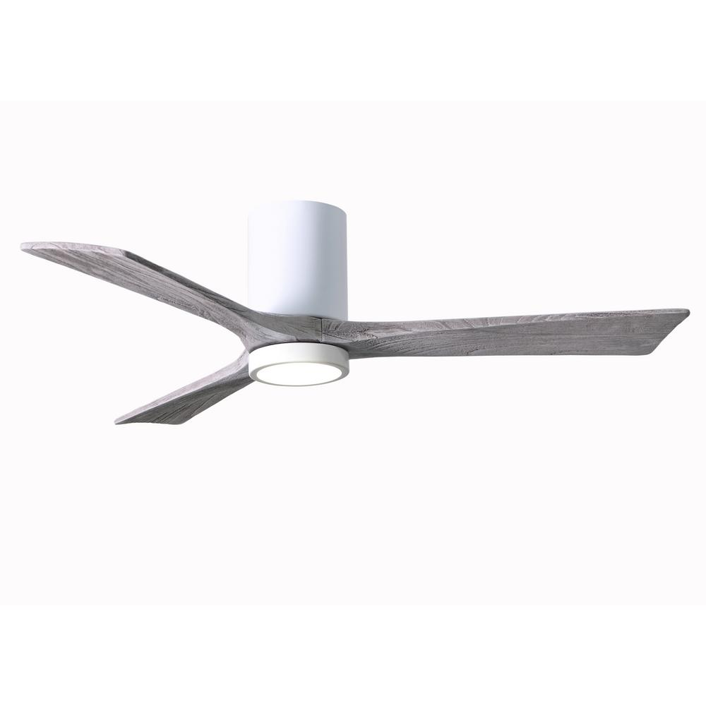 Atlas Irene 52 in. LED Indoor/Outdoor Damp Gloss White Ceiling Fan with Light