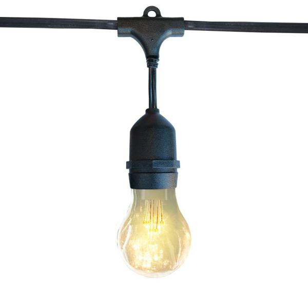 Outdoor/Indoor 8 ft. Plug-In LED A19 Edison Bulb String Light
