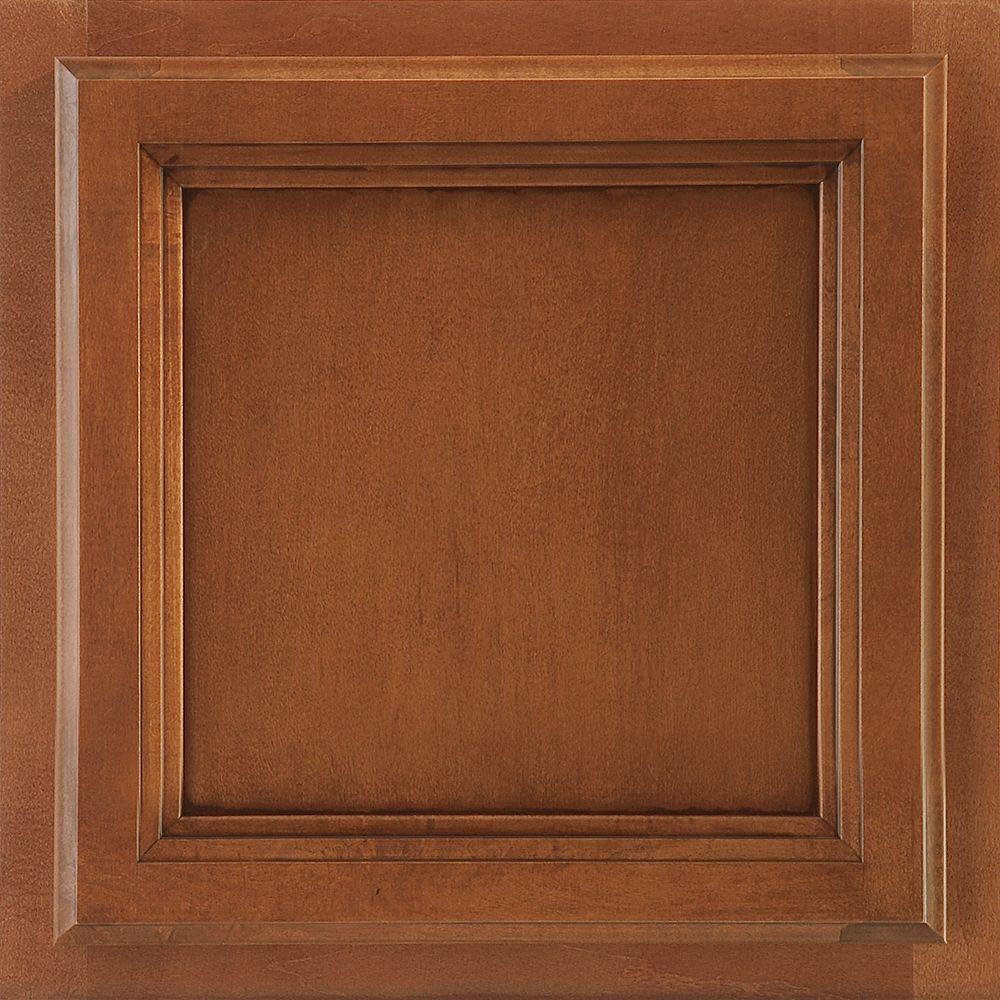 13x12-7/8 in. Cabinet Door Sample in Ashland Maple Auburn Glaze