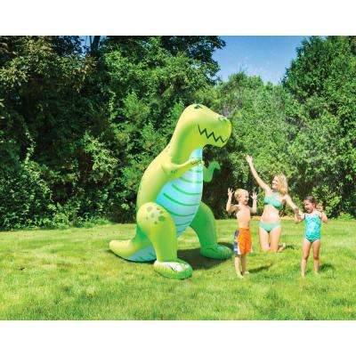 Over 6 ft. H Tall Ginormous Inflatable Green Dinosaur Yard Summer Sprinkler, Perfect for Summer Fun