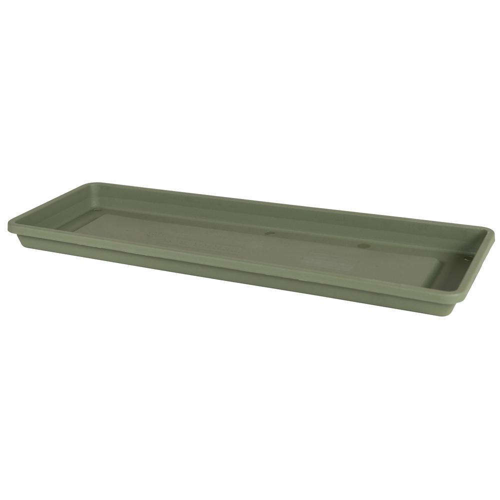 Bloem Terra 30 In Living Green Plastic Window Box Saucer