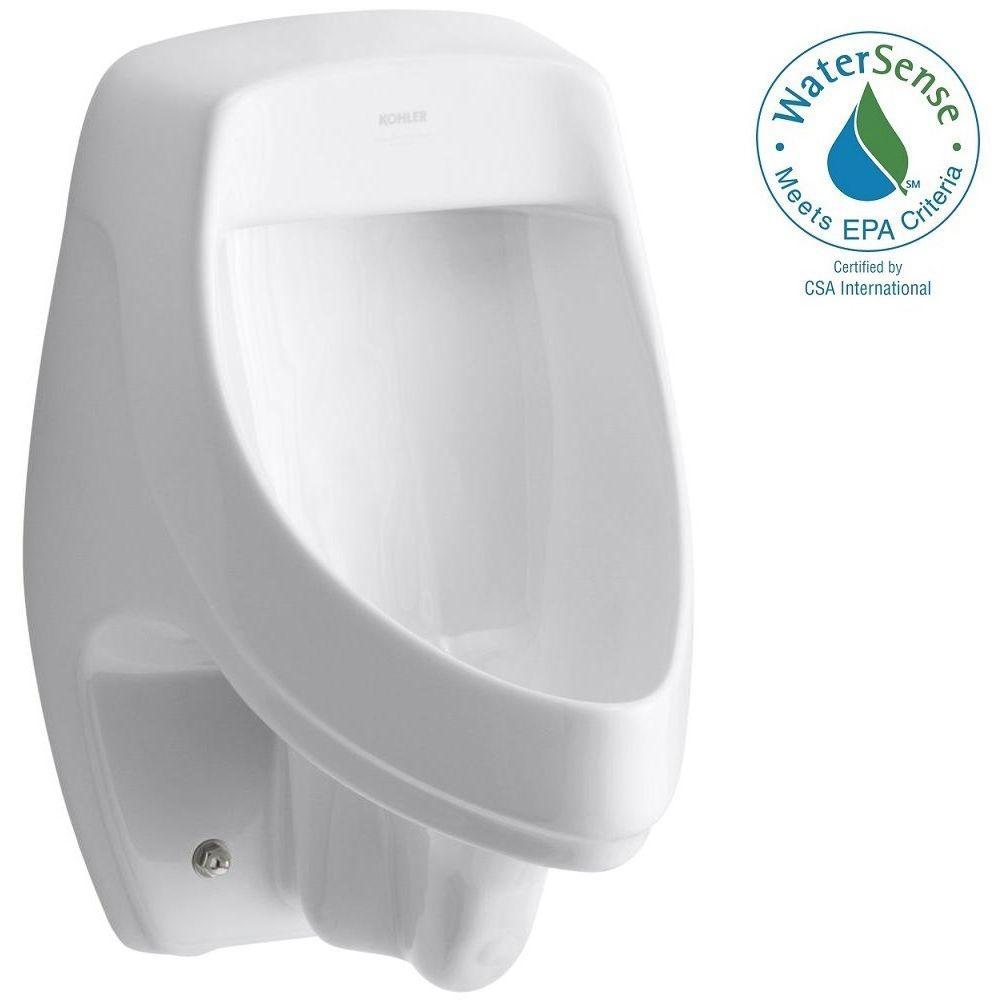 KOHLER Dexter 0.5 or 1.0 GPF Urinal with Rear Spud in White