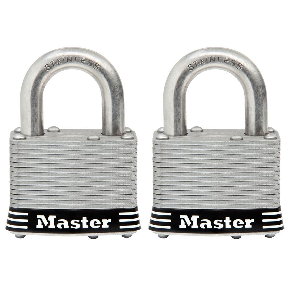 2 in. Laminated Stainless Steel Keyed Padlock with 1 in. Shackle