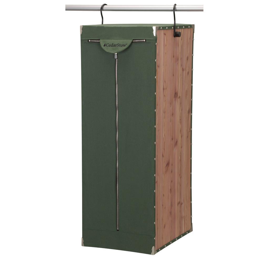 Natural Eastern Red Cedar Green Canvas Standard Suite Storage Unit