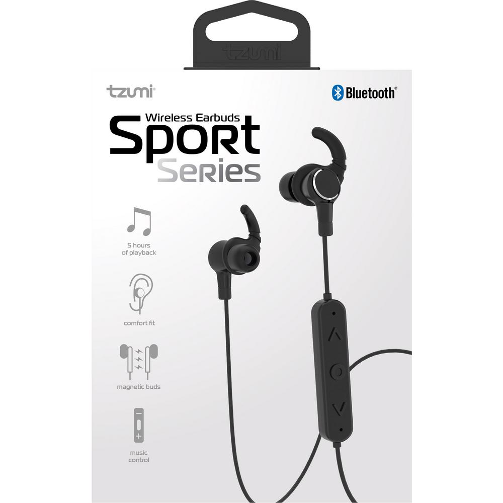 1941eaa738d Tzumi Bluetooth Sport Series Wireless Magnetic Earbuds-5211HD - The ...