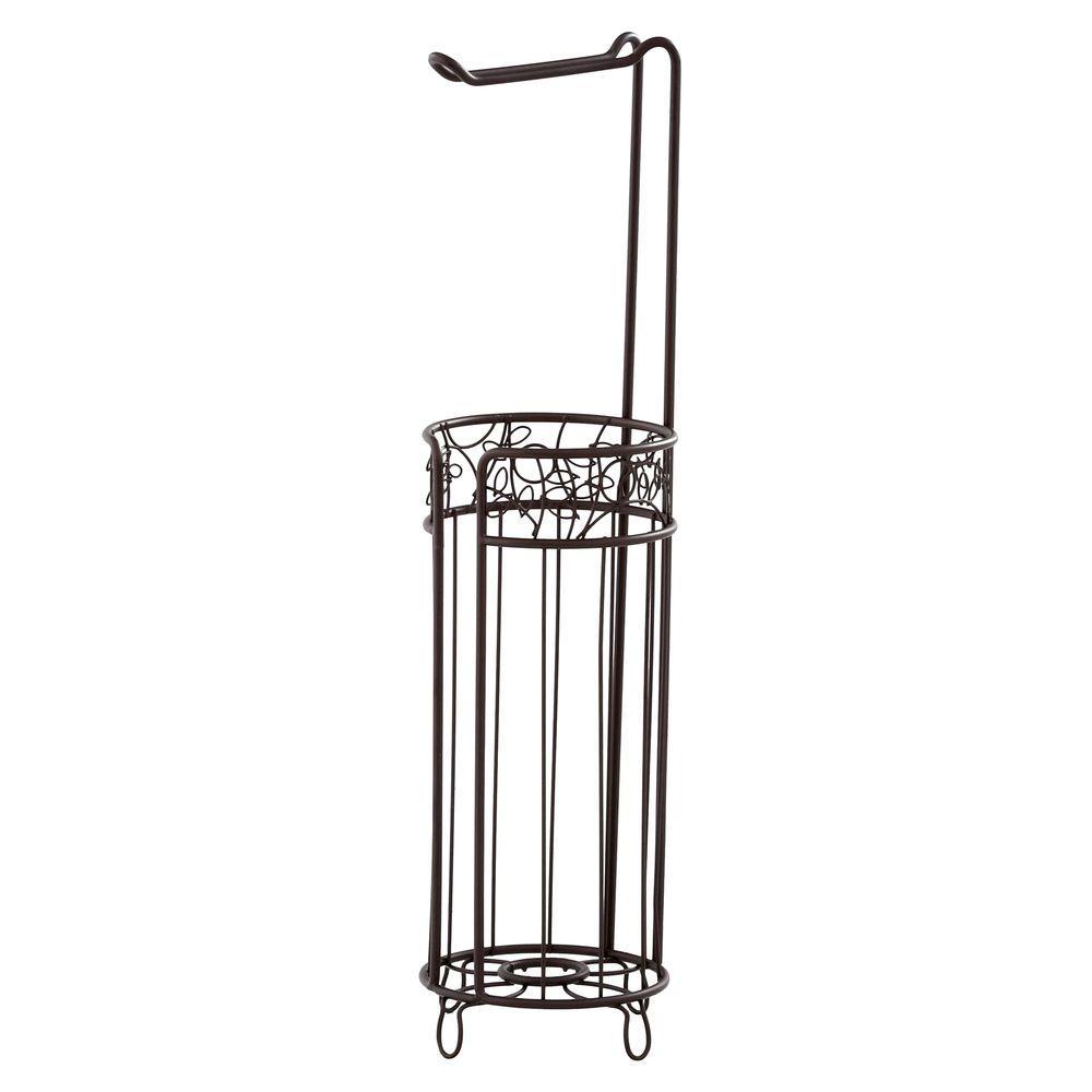 interdesign twigz freestanding toilet paper holder plus in bronze 77281 the home depot. Black Bedroom Furniture Sets. Home Design Ideas