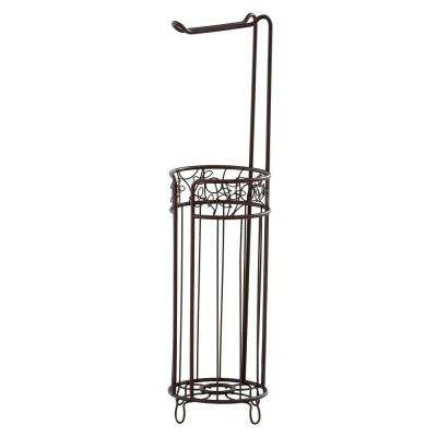 Twigz Freestanding Toilet Paper Holder Plus In Bronze
