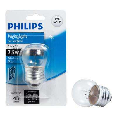 7.5-Watt S11 Incandescent Clear Night Light Bulb