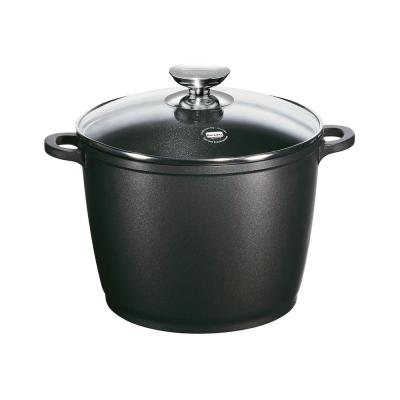 Vario Click 10 in./7 Qt. Induction Round Stock Pot with Lid Black