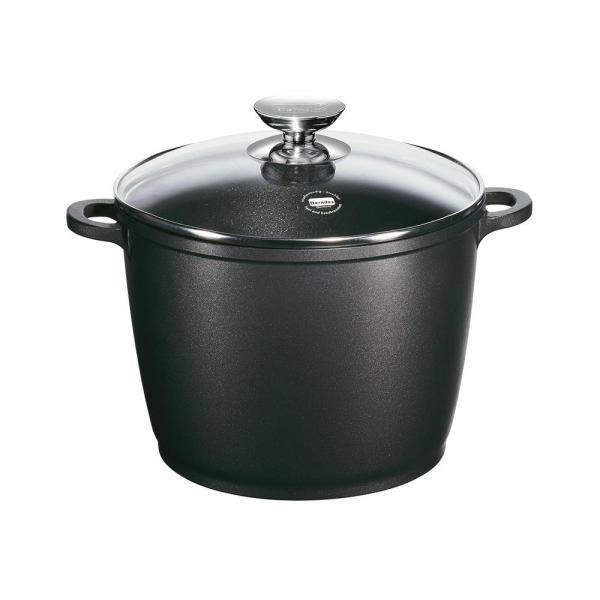 Berndes Vario Click 10 in./7 Qt. Induction Round Stock Pot with Lid Black