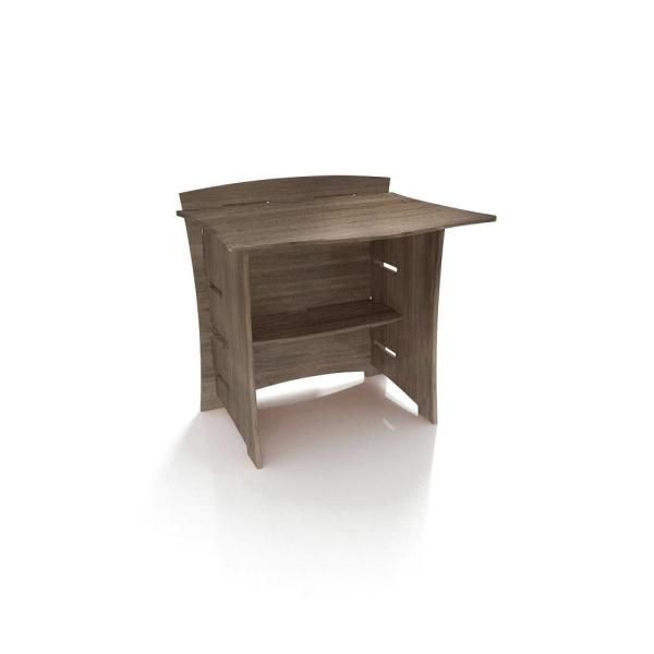 Legare 29 in. Desk Connecting Bridge with Solid Wood in Grey