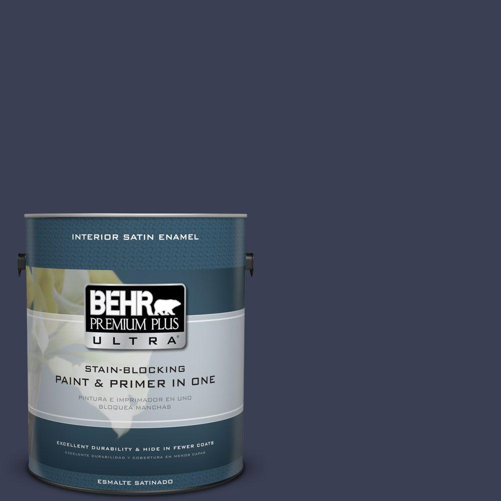 1 gal. #HDC-CL-26A Indigo Ink Satin Enamel Interior Paint