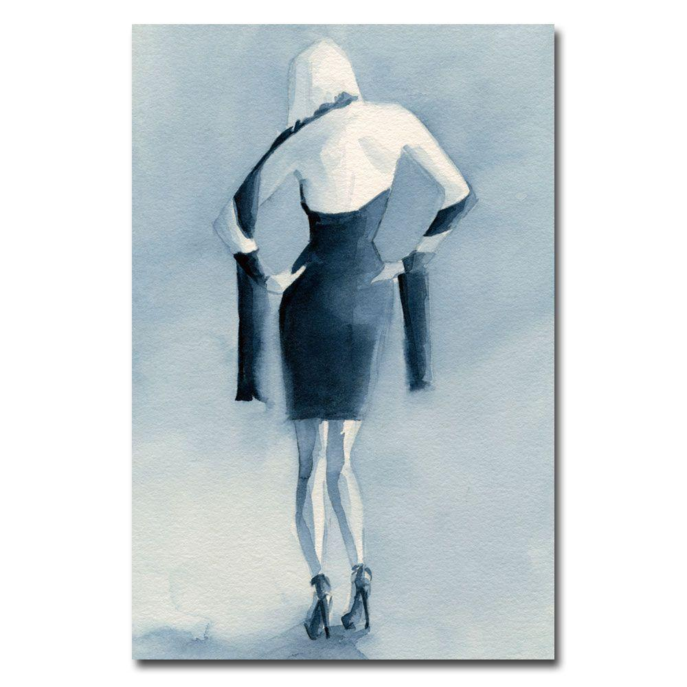 Trademark Fine Art 16 in. x 24 in. Blue Dress Back Canvas Art-DISCONTINUED