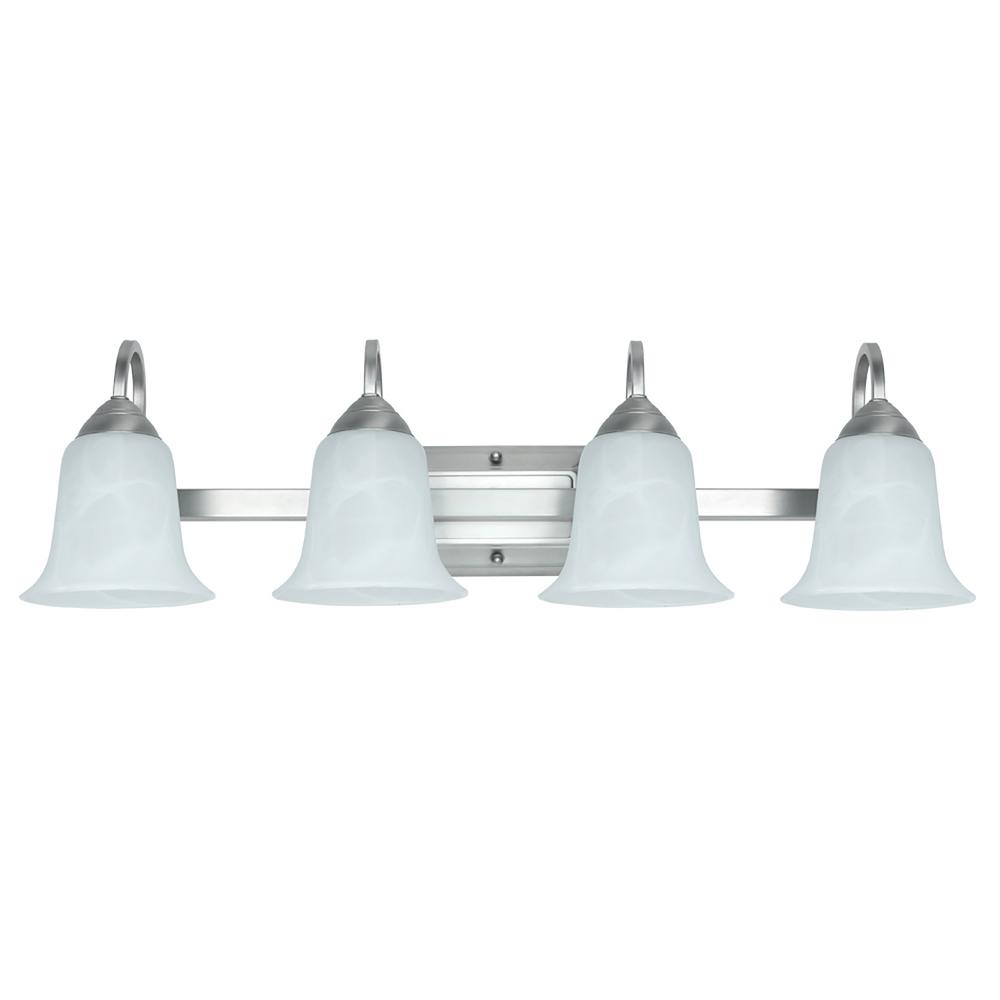 Feit Electric 4-Light 26-Watt Brushed Nickel Integrated LED Bath Light  sc 1 st  The Home Depot & Feit Electric 4-Light 26-Watt Brushed Nickel Integrated LED Bath ... azcodes.com