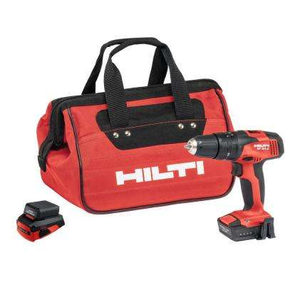 SF 2H-A Cordless Hammer Drill Driver Kit with CA-B12 Adapter, 2 Lithium-Ion Batteries, Soft Bag and Belt Clip