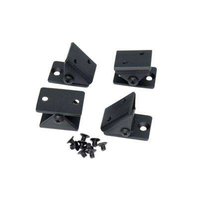 Fe26 1-1/4 in. Steel Black Sand Angel Adaptor Universal Bracket (4-Pack)