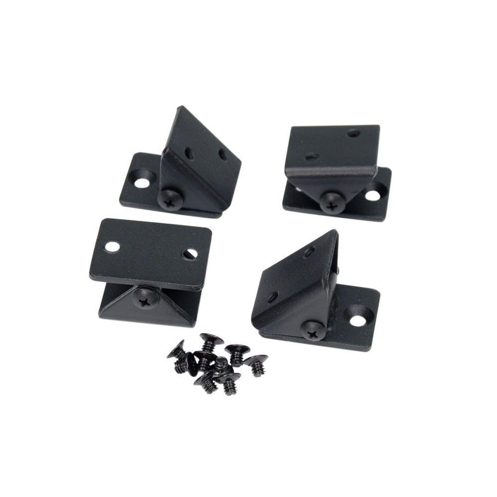 Fe26 1-1/4 in. Steel Black Sand Angel Adaptor Universal Bracket (4-Pack)