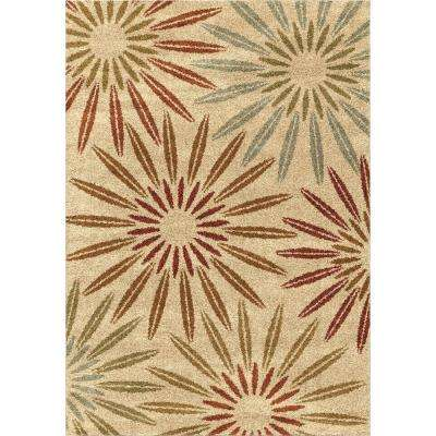 Anchorage Multi 7 ft. 10 in. x 10 ft. 10 in. Unique Floral Indoor Area Rug