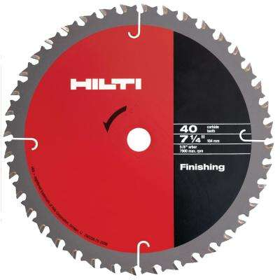 7-1/4 in. 40-Teeth Carbide Tipped SPX Fine Finishing Circular Saw Blade (15-Pieces)