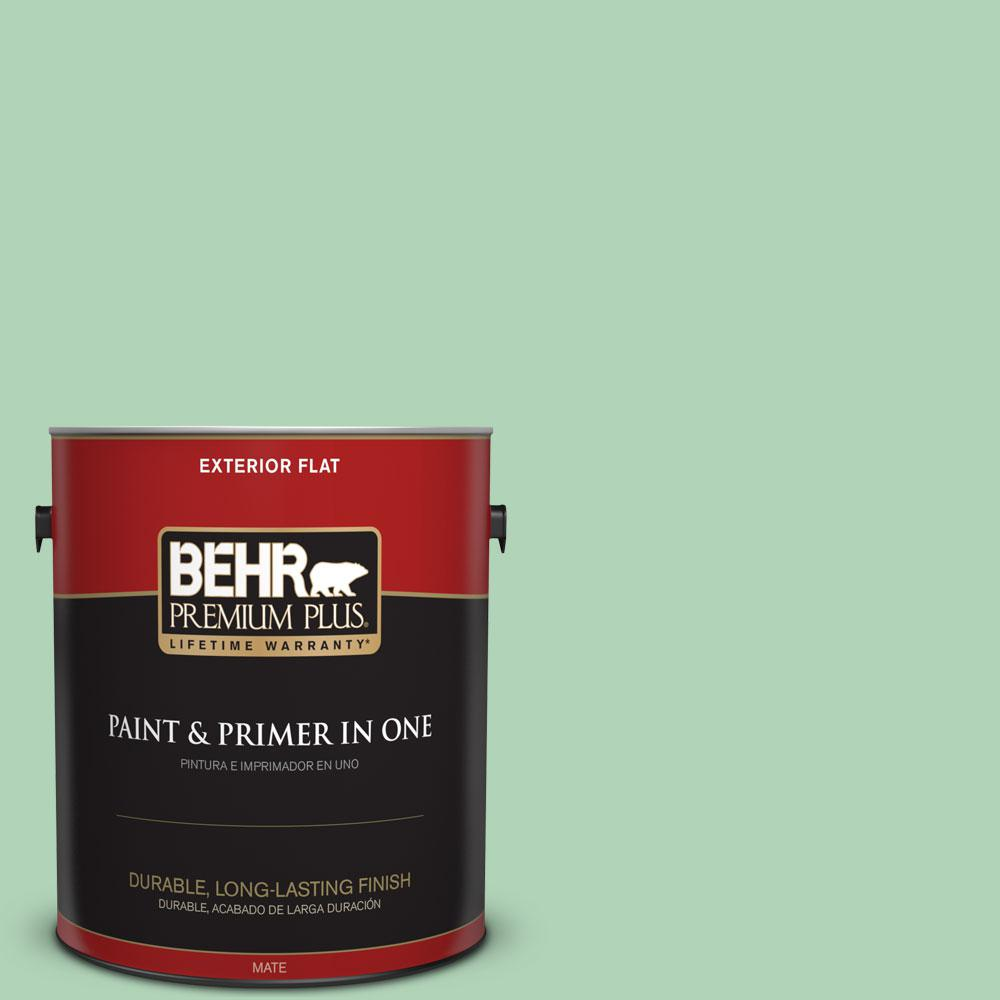 BEHR Premium Plus 1-gal. #M410-3 Enchanted Meadow Flat Exterior Paint