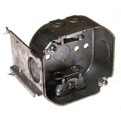 4 in. Octagon Box, 1-1/2 in. Deep with Armored Cable/Metal Clad/Flex Clamps and J-Bracket (25-Pack)