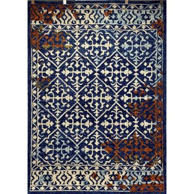 Blue Rust Area Rugs The