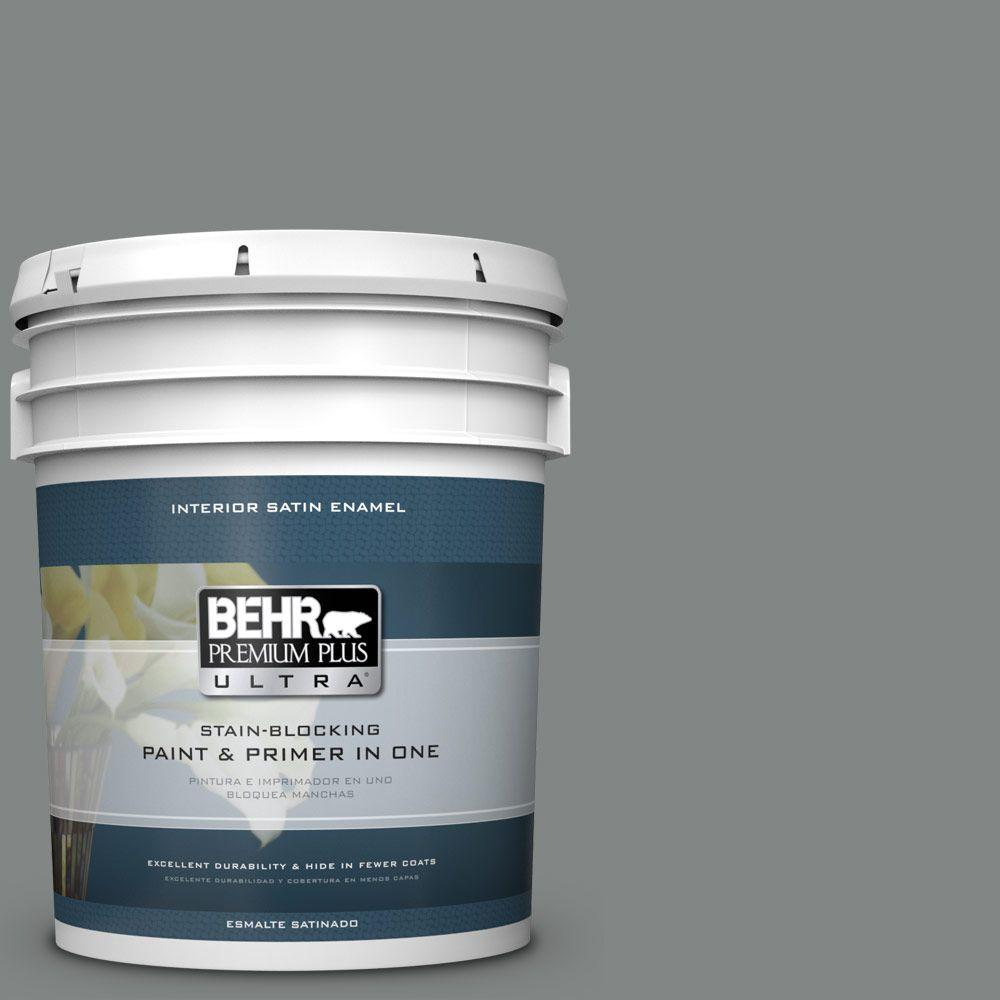5 gal. #PPU25-17 Euro Gray Satin Enamel Interior Paint