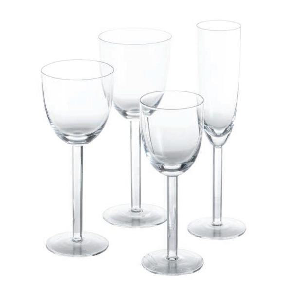 Paola 3.75 in. D x 9 in. H White Wine Glass (Set of 4)