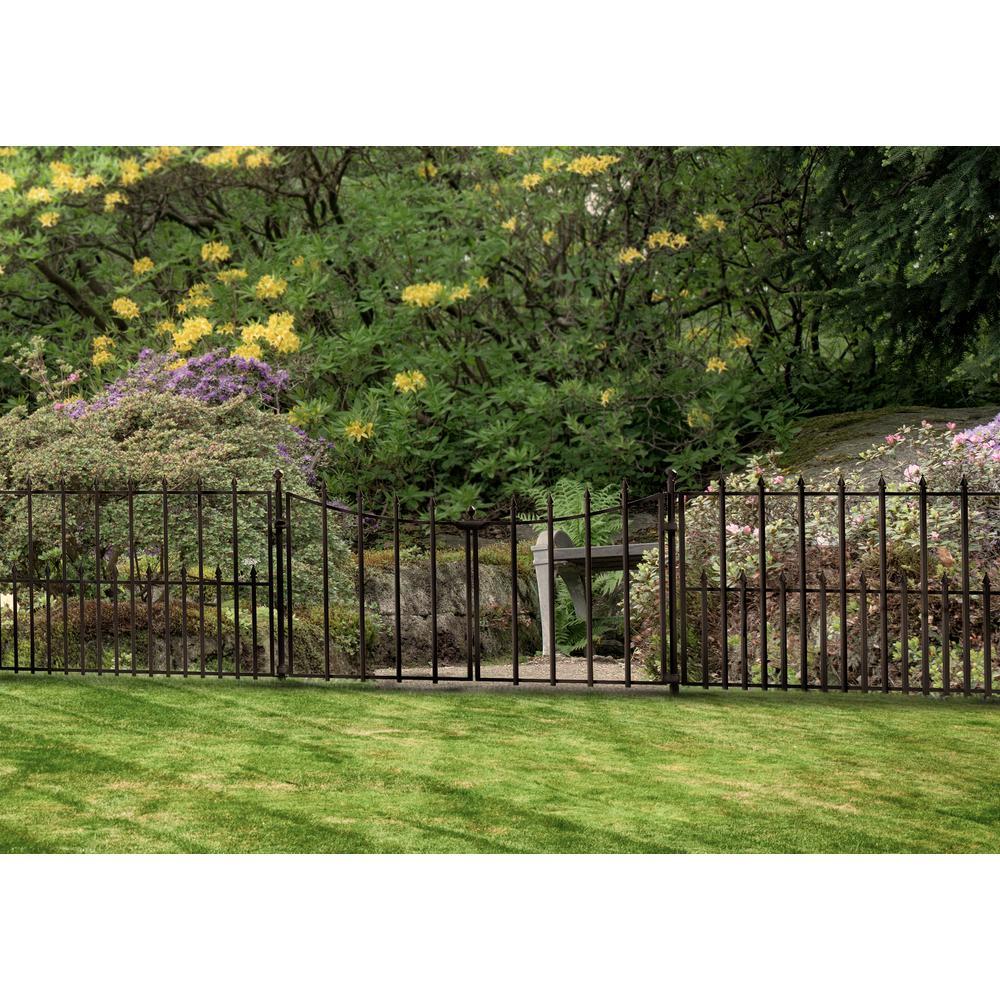 Empire Westbrook 28 In Black Steel Decorative Fence Gate 860176