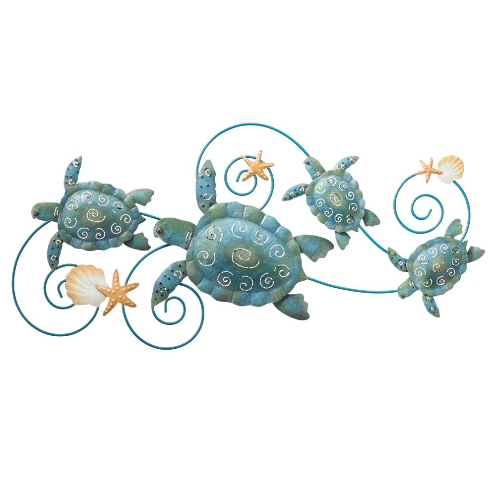 Regal 31 in sea turtle wall decor 5073 the home depot for Turtle decorations for home