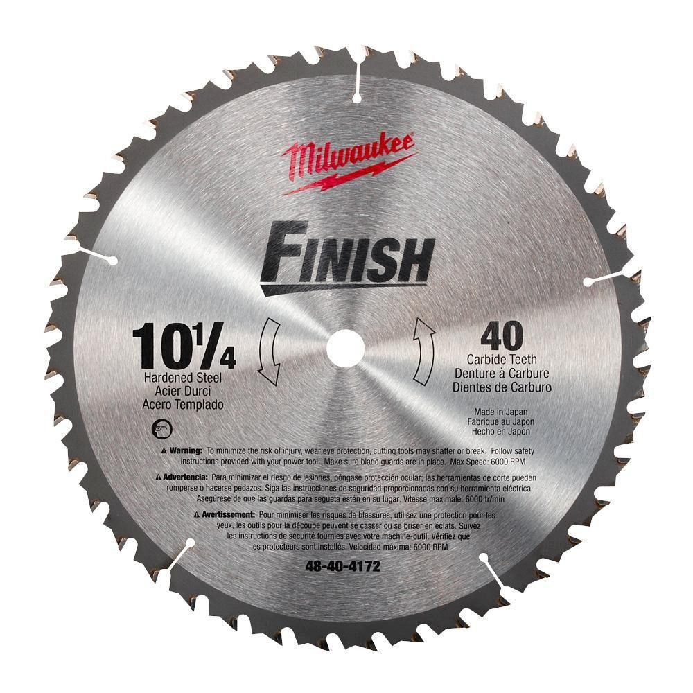 10-1/4 in. x 40 Carbide Tooth Circular Saw Blade