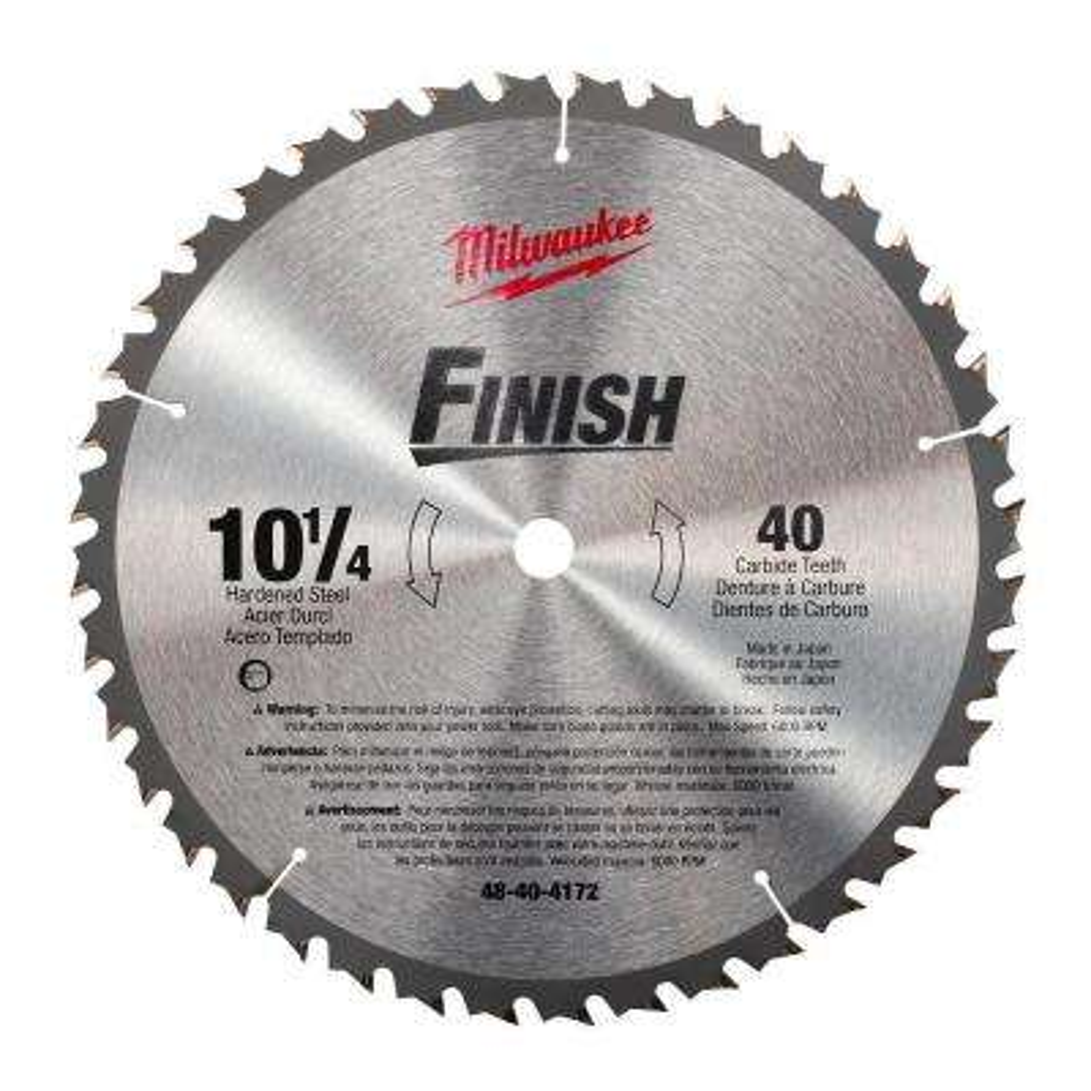 10-1/4 in. x 40 Carbide Tooth Circular Saw Blade