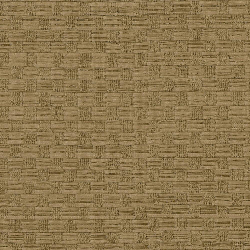 Chocolate Woven Texture Wallpaper Sample