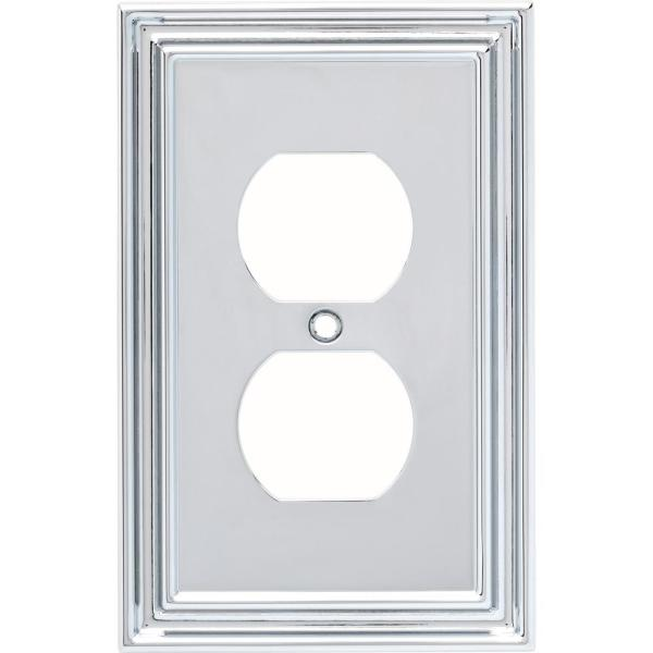 Chrome 1-Gang Duplex Outlet Wall Plate (1-Pack)
