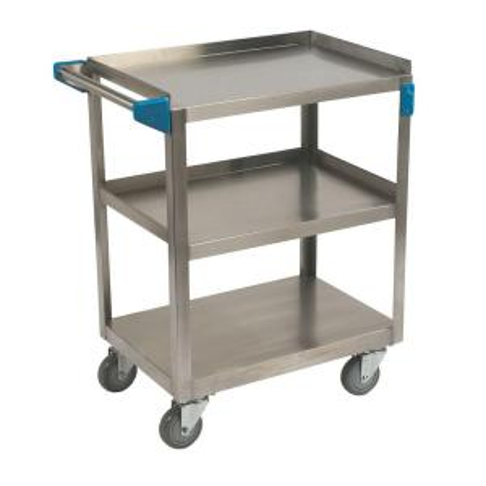 Carlisle 300# Stainless Steel 3 Shelf Utility Cart by Carlisle