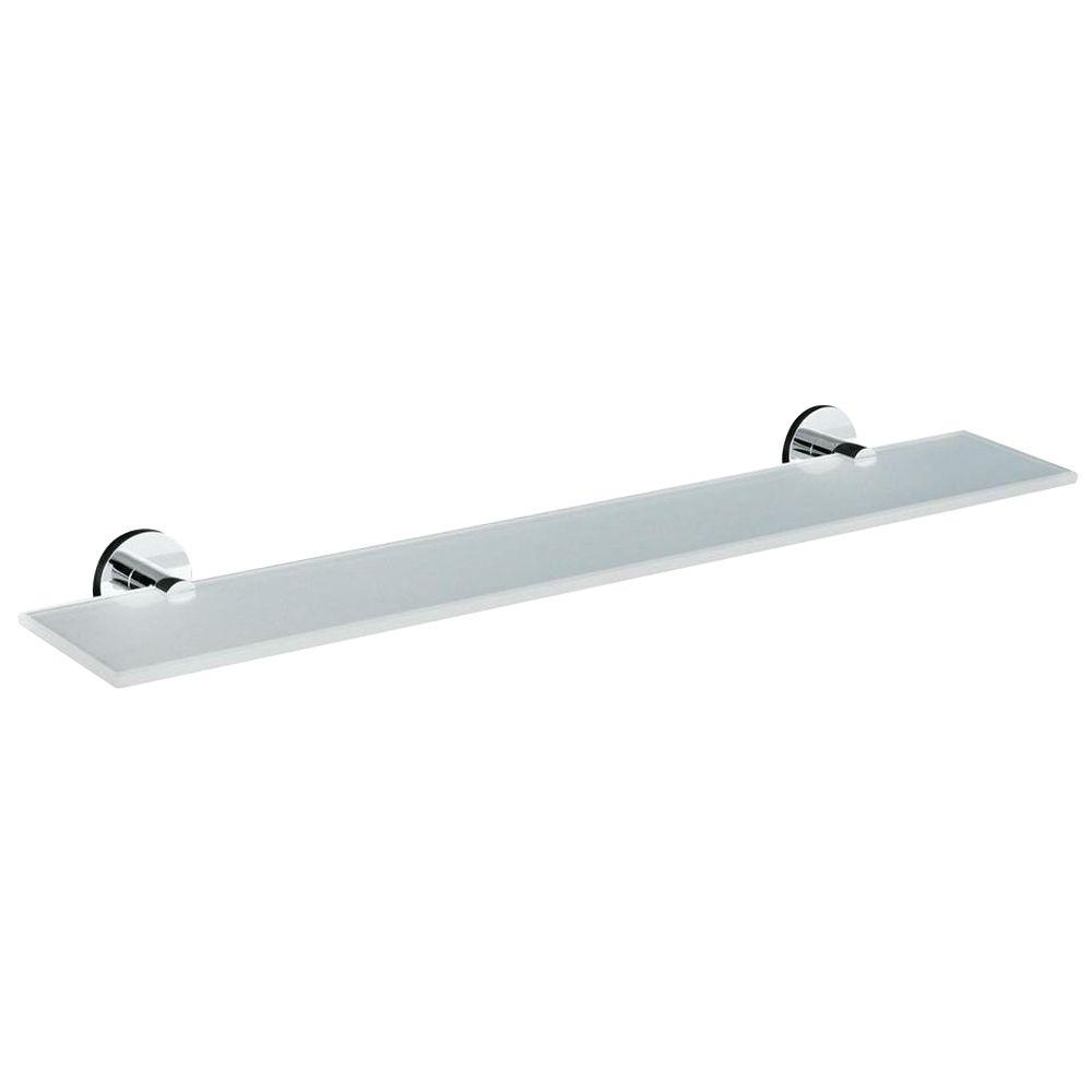 KOHLER Stillness 22 in. W Wall-Mount Shelf in Glass and Polished Chrome