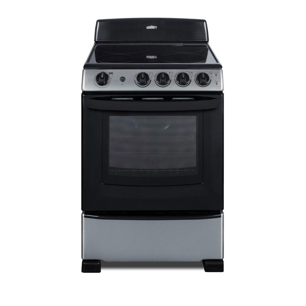 Summit Appliance 24 in. 2.9 cu. ft. Electric Range in Stainless Steel