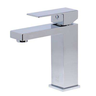 AB1229-PC Single Hole Single-Handle Bathroom Faucet in Polished Chrome